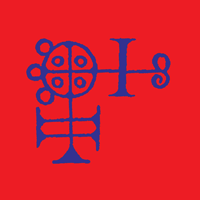 The seal of Buer in dark bright blue on rich red